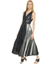 Proenza Schouler - Foil Printed Techno Cloqué Dress - Lyst