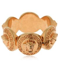 Versace - Medusa Coin Ring - Lyst