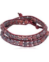 Colana - Tiger Eye Beads Wrap Bracelet - Lyst