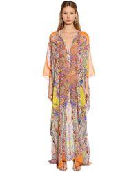 Etro - Paisley Printed Silk Georgette Dress - Lyst