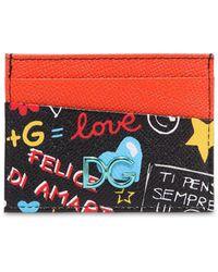 Dolce & Gabbana Porte-cartes bicolore à plaque logo 16YN8IA6hu
