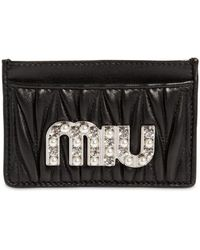 Miu Miu - Quilted Leather Card Holder - Lyst