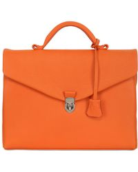 Ohba - Soft Leather Briefcase - Lyst