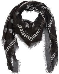Versace - Greek Motif & Medusa Modal Silk Scarf - Lyst