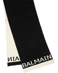 Balmain - Logo Knit Scarf - Lyst