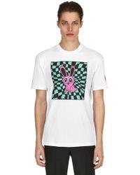 McQ - Acid Bunny Printed Cotton Jersey T Shirt - Lyst
