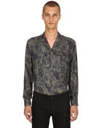 Etro Paisley Printed Fluid Silk Pyjama Shirt