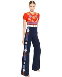 Peter Pilotto - Embroidered Crepe Jumpsuit - Lyst