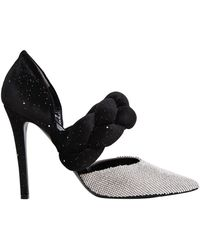 Marco De Vincenzo - 105mm Swarovski & Braided Velvet Pumps - Lyst