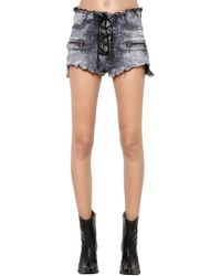 Unravel - Shorts In Denim Lavato - Lyst