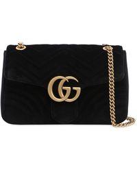 Gucci - Medium Gg Marmont 2.0 Velvet Bag - Lyst