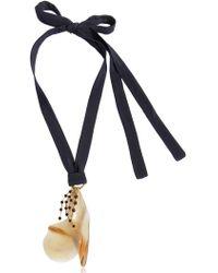 Marni | Petals Horn & Crystals Pendant Necklace | Lyst
