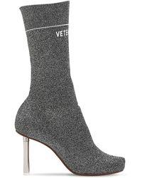 Vetements - 90mm Lighter Socks Lurex Ankle Boots - Lyst