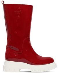 Agl Attilio Giusti Leombruni - 40mm Patent Leather Midi Boots - Lyst