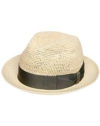Borsalino - Crocheted Straw Medium Brim Panama Hat - Lyst