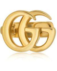 Gucci | 18kt Yellow Gold Gg Mono Ear Cuff | Lyst
