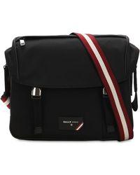 Bally - Logo Stripe Nylon Messenger Bag - Lyst