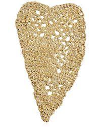 Maison Margiela - Heart Crochet Earrings - Lyst