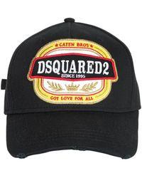 DSquared² - Gorro De Baseball De Algodón Con Parche - Lyst