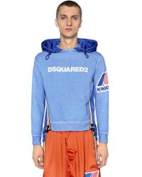 DSquared² - K-way Hooded Jersey & Nylon Sweatshirt - Lyst