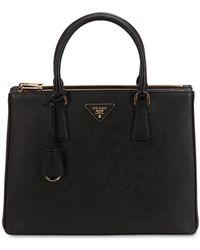 Prada - Large Galleria Saffiano Leather Bag - Lyst