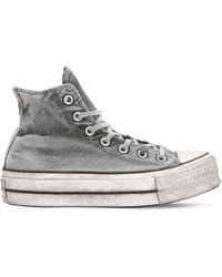 Converse - Chuck Taylor High Lift Canvas Trainers - Lyst