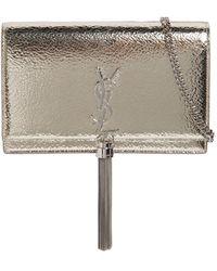 Saint Laurent | Kate Monogram Metallic Leather Bag | Lyst