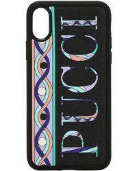 Emilio Pucci - Logo Printed Leather Iphone X/xs Cover - Lyst