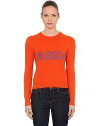 Alberta Ferretti - Slim Thursday Wool & Cashmere Sweater - Lyst