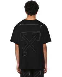 Off-White c/o Virgil Abloh - T-shirt Oversize In Cotone - Lyst