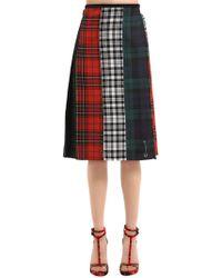 Le Kilt - Shirley Wool Plaid Midi Skirt - Lyst