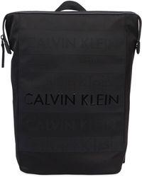 Calvin Klein - Rucksack Aus Nylon Mit Logodruck - Lyst