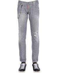 DSquared² - 16.5cm Clement Denim Jeans W/ Chain - Lyst