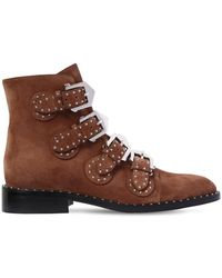 Givenchy - 20mm Elegant Studded Leather Ankle Boots - Lyst