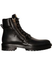 Balmain - Army Combat Zipped Leather Boots - Lyst