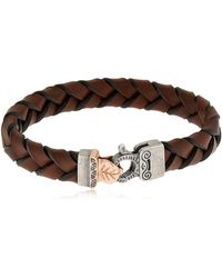 Marco Dal Maso - Braided Leather Bracelet - Lyst