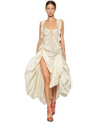 DSquared² - Adjustable Draped Silk Voile Dress - Lyst