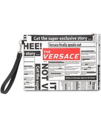 "Versace - Pochette ""tabloid"" En Cuir Saffiano - Lyst"