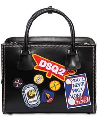 DSquared² - Patches Leather Top Handle Bag - Lyst