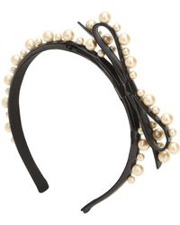 RED Valentino - Red V Embellished Faux Patent Headband - Lyst