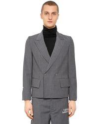 Off-White c/o Virgil Abloh - Pinstriped Cool Wool Blazer - Lyst
