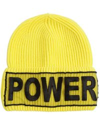 Versace - Power Knitted Wool Beanie Hat - Lyst
