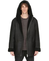 Yeezy - Hooded Shearling Coat - Lyst