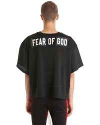 Fear Of God - T-shirt In Rete - Lyst