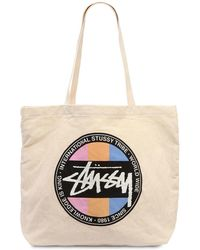 Stussy - Stock Dot Cotton Canvas Tote Bag - Lyst