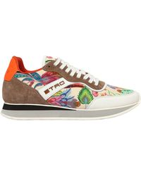 Etro - 20mm Paisley Satin Running Trainers - Lyst