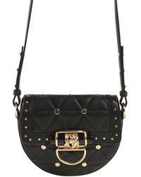 Balmain - Small Quilted Leather Bag W/ Studs - Lyst