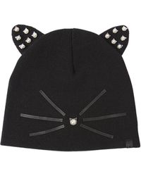 Karl Lagerfeld - Choupette Embellished Knit Beanie Hat - Lyst