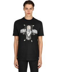 Neil Barrett - Oversized T-shirt Aus Baumwolljersey Mit Druck - Lyst