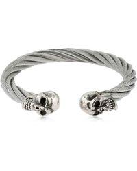 Cantini Mc Firenze - Silver Flat Chain Bracelet - Lyst